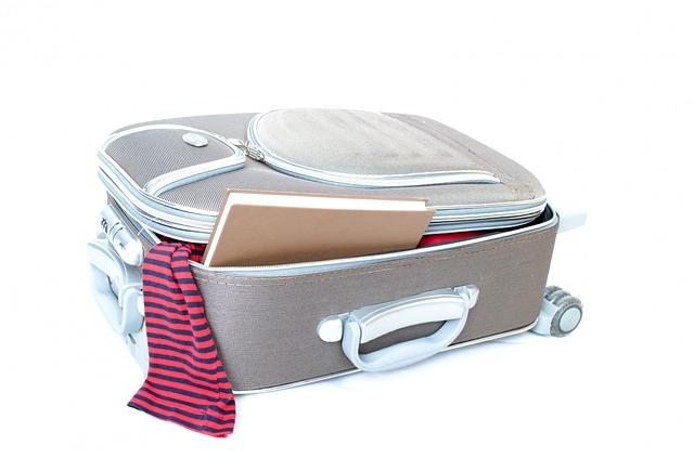 zbalený kufr